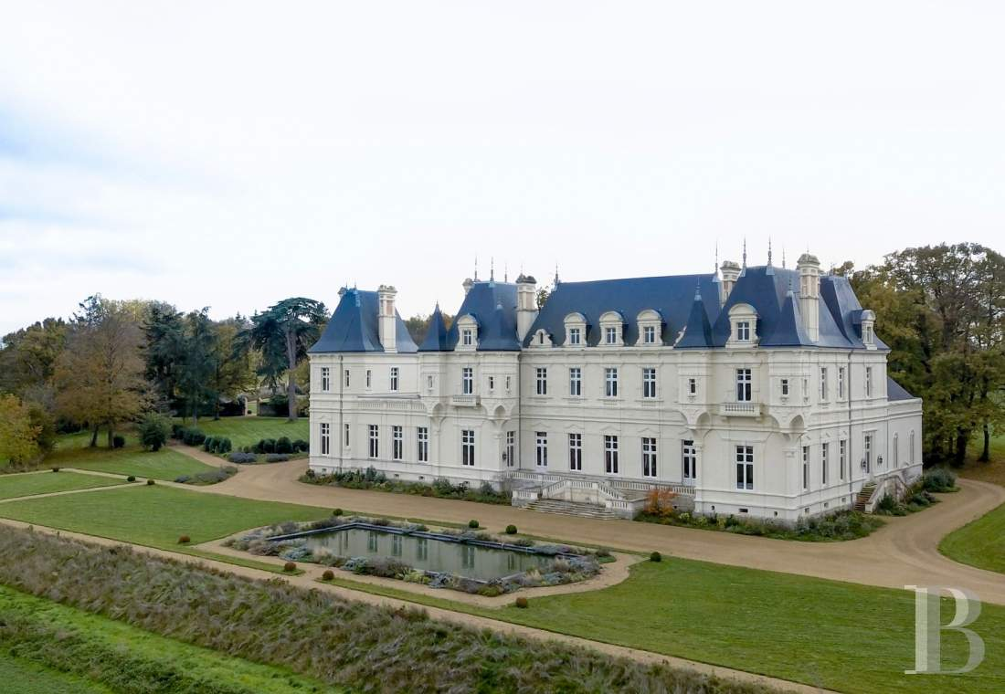 Castles / chateaux for sale - pays-de-loire - An impressive, fully restored, 19th century chateau, on the edge of a village in the rural Upper Anjou region